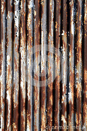 Rusted runzelte Metall