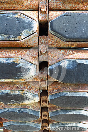 Rusted tank tracks
