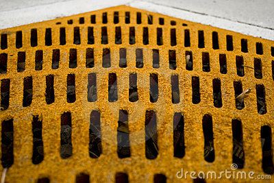 Rusted Yellow Grate