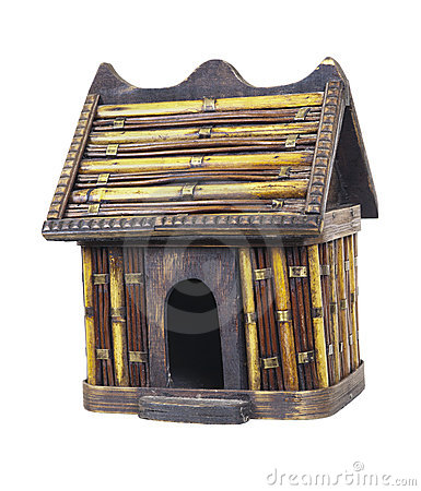 Rustic Bamboo Birdhouse