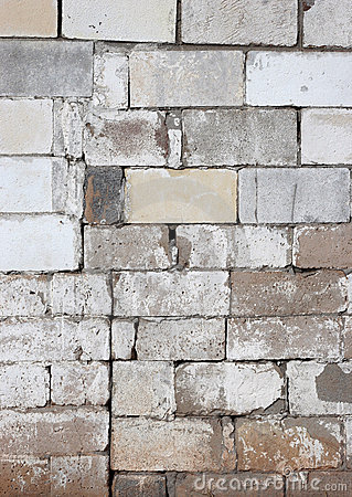 Free Rustic Block Wall With Fading White Paint Royalty Free Stock Photos - 8089288
