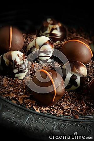 Free Rustic Chocolates II Stock Photos - 52199813