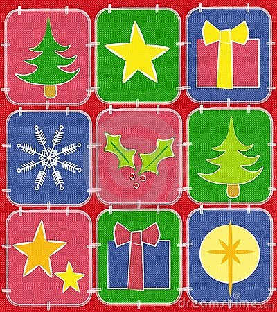 Rustic Christmas Quilt Background 2