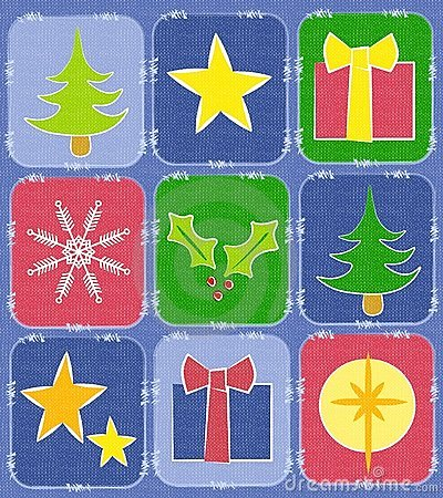 Rustic Christmas Quilt Background
