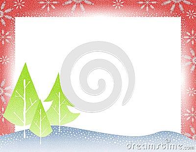 Rustic Christmas Tree Border