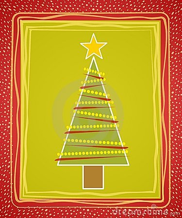 Rustic Christmas Tree Card