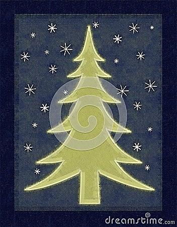 Rustic Christmas Tree Card