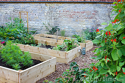 Rustic Country Vegetable Amp Flower Garden With Raised Beds