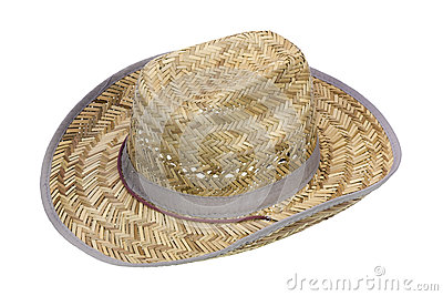 Rustic cowboy hat made of straw
