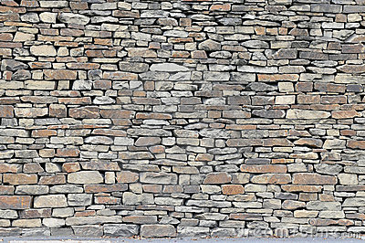 Rustic Dry Stone Wall