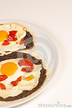 Rustic egg breakfast