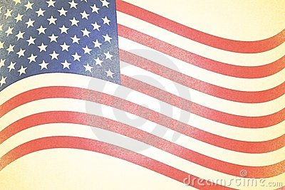 Rustic Faded American Flag Background