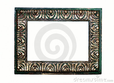 Rustic Green and Gold Frame
