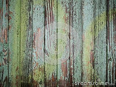 Rustic green wood