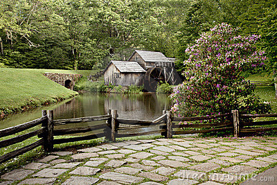 Rustic Gristmill and mill pond