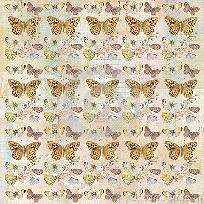 Free Rustic Grungy Botanical Butterfly Repeating Background Pattern Royalty Free Stock Photo - 63194385