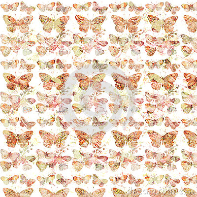 Free Rustic Grungy Botanical Butterfly Repeating Background Pattern Royalty Free Stock Photo - 63194395