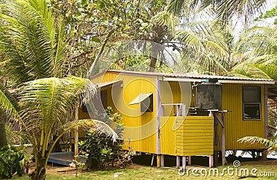Rustic guest  cabana Little Corn Island Nicaragua Central Americ