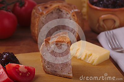 Rustic Pork Pie Slice
