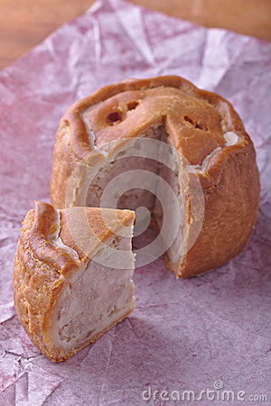 Rustic Pork Pie Cut