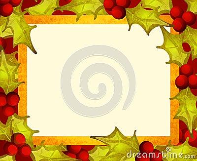 Rustic Holly Leaf Border