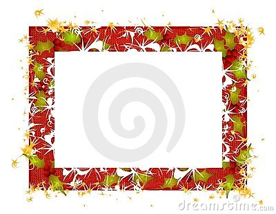 Rustic Holly Leaves Christmas Frame