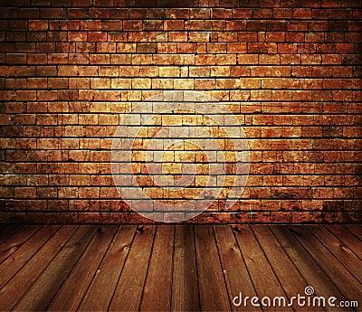 Rustic House Interior Vintage Brick Wood Texture Stock