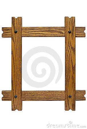 Free Rustic Picture Frame W/ Path Royalty Free Stock Photography - 523547
