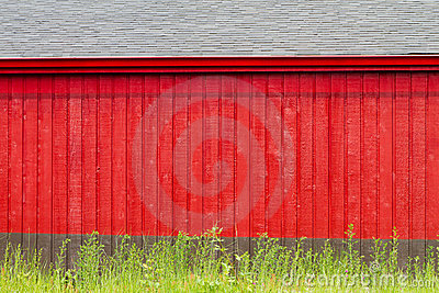 Rustic Red and Gray Building Backdrop
