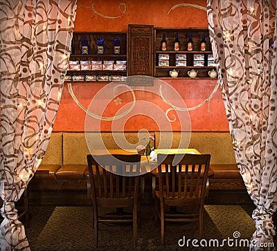 Rustic restaurant dining