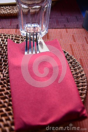 Rustic restaurant table setting