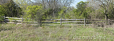 Rustic Rural Wood Fence Panorama Panoramic Banner
