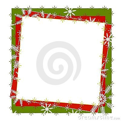 Rustic Snowflake Frame or Border