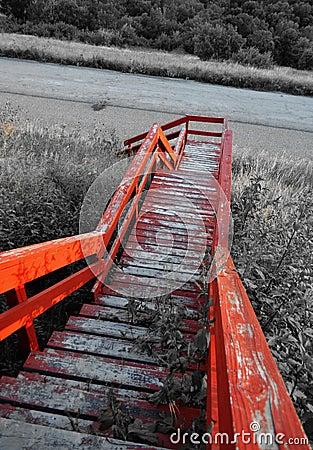 Rustic stairway