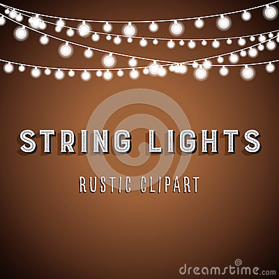 Free Rustic String Lights Background Stock Images - 76680244