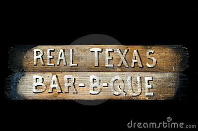 Rustic Texas barbecue sign