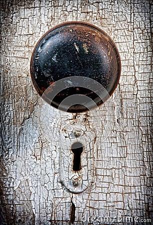 Rustic vintage doorknob