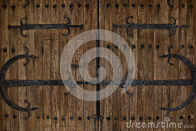 Rustic Vintage Iron Castle Doors