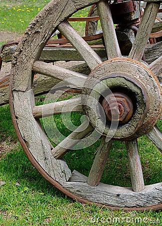 Free Rustic Wagon Wheel Royalty Free Stock Photo - 2802385