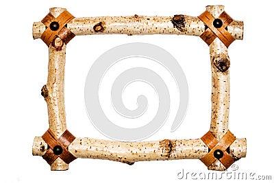 Rustic White Wood Frame