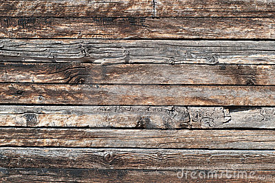 background features detail from a sturdy, but rustic weathered wood ...
