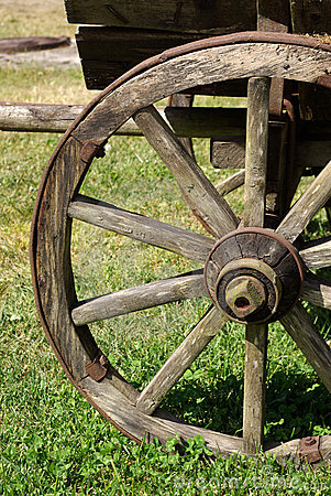 Rustic wooden wheel