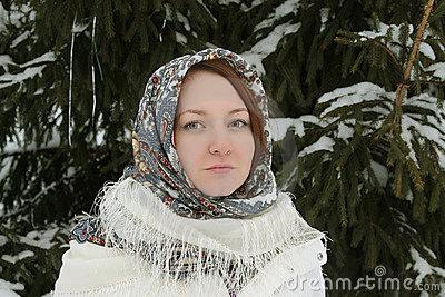 Rustic young woman