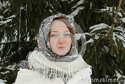 Rustikale junge Frau