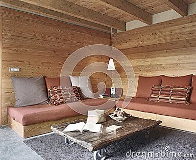 rustikales wohnzimmer stockbild bild 37197651. Black Bedroom Furniture Sets. Home Design Ideas