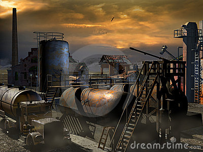 Rusty and abandoned industry