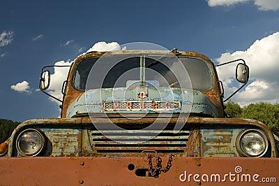 Rusty ancient car