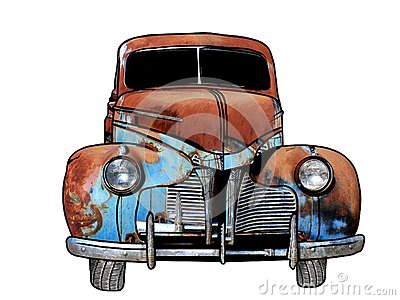 Rusty Antique Car
