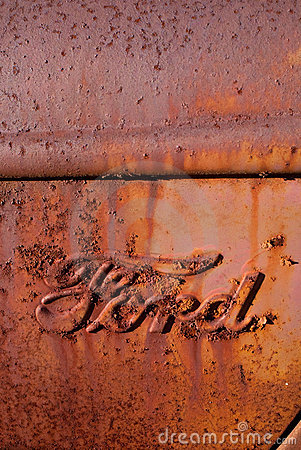 Rusty Antique Ford Truck Logo Editorial Image