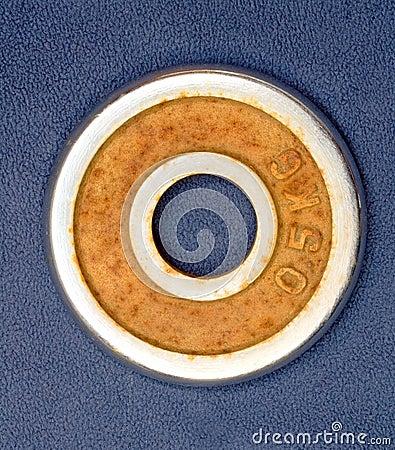 Rusty barbell
